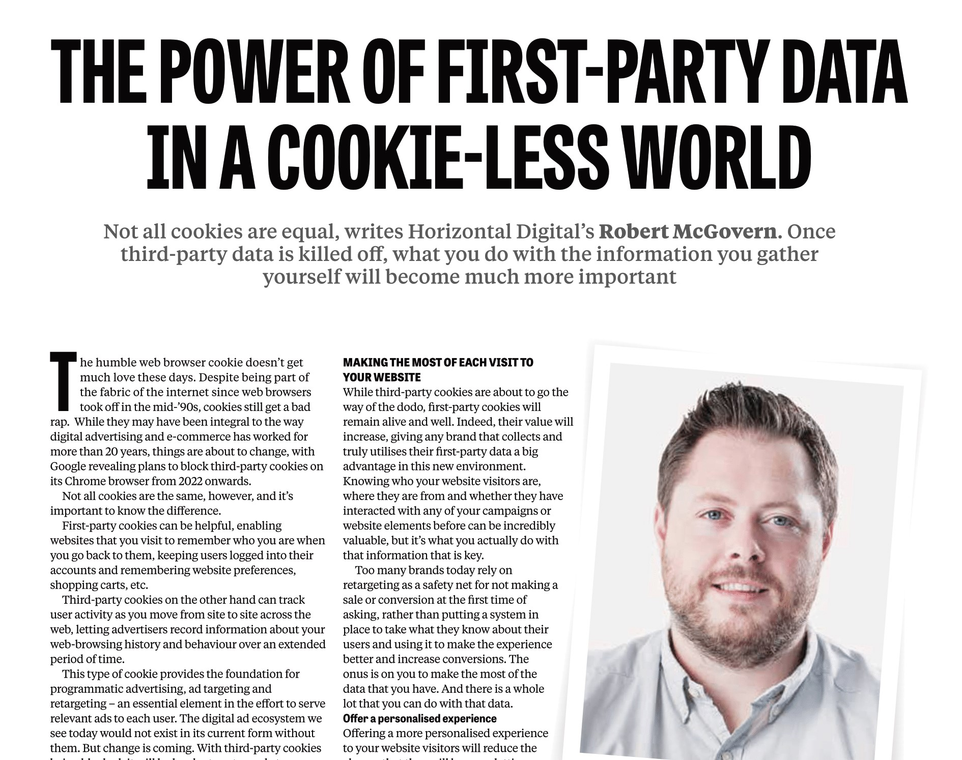 The power of first-party data in a cookie-less world